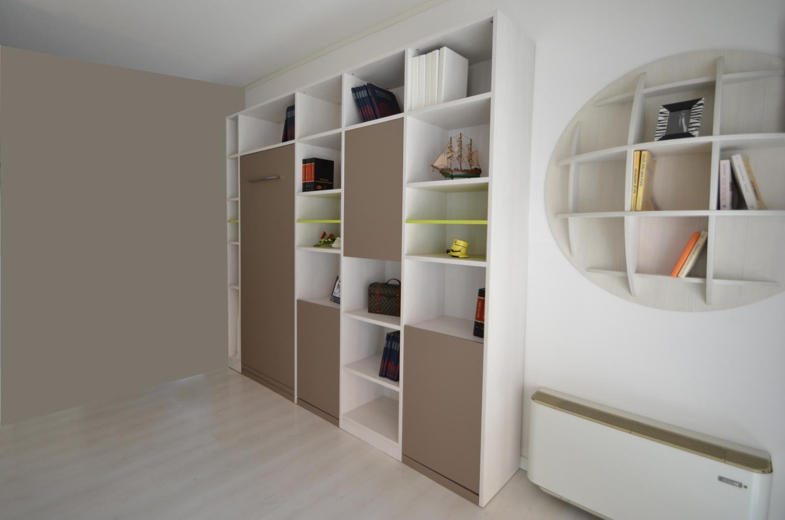 Produzione camere da letto brianza sde arredamenti - Libreria con letto a scomparsa ...